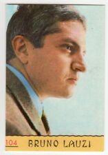 figurina CANTANTI PANINI 1968 REC numero 104 BRUNO LAUZI