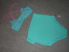 Arie Two Piece Swimsuit Size Medium Seafoam/Pink NEW/NWT