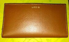 Lodis Womens Brown Leather Envelope Bifold Billfold Wallet NEW