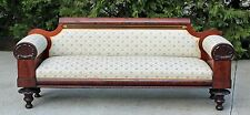 Philadelphia Cook & Parkin Empire Flamed Mahogany Sofa Shell Carved c1825
