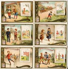 Chromo Liebig Sang. 473 FRA Favole di La Fontaine Chasse ANNO 1896