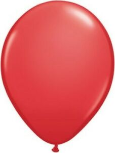 """Qualatex 5"""" Red Latex 100 Count Balloons"""