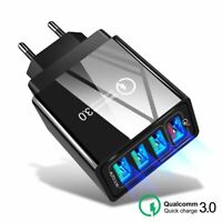 4 Port Fast Quick Charge QC 3.0 USB Hub Wall Charger Power Adapter US/EU/UK 48W