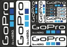 GoPro Hero Action Camera Replacement Decals Stickers Graphic Vinyl 14 Pcs B/W