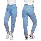 Womens High Waisted Mom Jeans Vintage 80s 90s Light Blue Denim Pants Celebrity