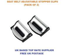 SILVER JAGUAR SEAT ADJUSTABLE SAFETY BELT STOPPER CLIP CAR TRAVEL 2PCS