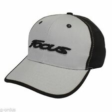 NEW LICENSED BOLD 3D THICK EMBROIDERED FORD FOCUS TWILL GREY AND BLACK HAT/CAP!