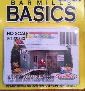 BAR MILLS 742 HO Simpson Feed & Seed - Laser cut Craftsman Kit     MODELRRSUPPLY