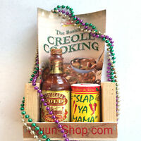 CAJUN SPICE RACK LOUISIANA HOT PEPPER SAUCE SLAP MAMA RECIPE SEASONING COOKING