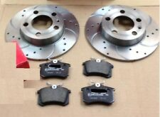 VW GOLF MK4 1998-2004 DRILLED GROOVED PERFORMANCE REAR BRAKE DISCS REAR PADS