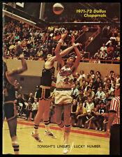 1971 DALLAS CHAPARRALS CHICAGO BULS RARE ABA NBA INTER-LEAGUE GAME PROGRAM~HQ