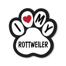 I Love My Rottweiler Car Van Lorry Wall Vinyl Self Adhesive Stickers