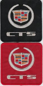 CADILLAC CTS BLACK RED COMBO SEW/IRON ON PATCH EMBLEM BADGE EMBROIDERED V8