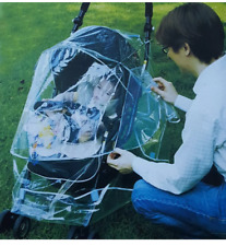 Weather Shield Clear Stroller Rain Cover Canopy Standard Stroller Universal Size