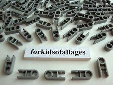 100 Gray Single End Clip Connectors 1-Position w/Hole Bulk Knex Parts/Pieces Lot