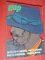 Gap Italia Enero 1983 Enero 81 Pitti Hombre Moda Raro Vintage Magazine