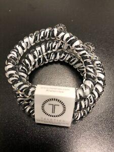 Teleties 3 Pack Small Hair Ties Zebra Black White Ponytail Holder Bracelets