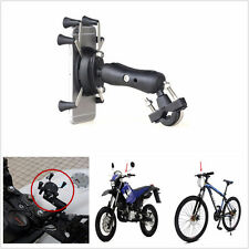 "X-Shape Cellphone Holder 6"" Motorcycle 3.5-6Inch Mount Holder For Cell Phone GPS"