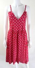 80s does 50s Vintage Pink Polka Dot Swing Dress UK Size 10