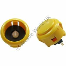 1 x Genuine Sanwa OBSFS-30 Silent Snap In Arcade Button - Yellow