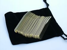 """50 2.5"""" Solid Brass Collar Stays Stay for Mens Dress Shirt Oxford in Pouch"""