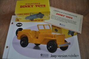 miniature Dinky toys atlas jeep version civile 24M collection