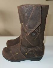 NEW Sanita Maggie Boots Antique Brown Oiled Suede size Euro 37 US 7 MSRP $199