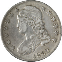 1832 Bust Half Dollar Choice XF+ 0-104 R.3 Nice Strike