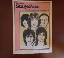 ROLLING STONES 1978 SunDay 2 CONCERT StagePass booklet Some Girls banned cover