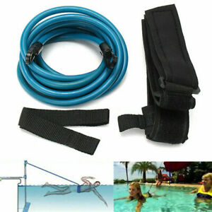 2PCS Swim Bungee Training Belt Swimming Pool Safety Leash Exerciser Tether Tool