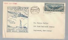 USA 1939 AIR MAIL to ENGLAND+Cacnel TRANS-ATLANTIC AIR MAIL SERVICE+First F-N681