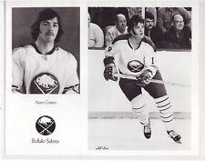 NORM GRATTON 1973-74 BUFFALO SABRES ORIGINAL TEAM ISSUE 8x10 PHOTOGRAPH NHL