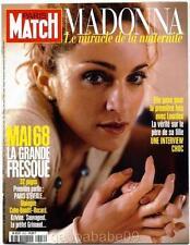 MADONNA - PARIS MATCH MAGAZINE FRANCE APRIL 1998 BABY LOURDES PHOTOS MINT