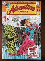 Adventure Comics 386 (1969) Supergirl! Bonus Supergirl Story! Superman Cameo!