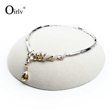 Oirlv Jewelry Display Stand for Beads Pearl Necklace Hemisphere Resin with Linen