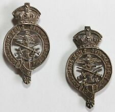 More details for royal hong kong df officer's collar badges commonwealth colonial china