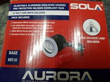 2 x mr16 fire rated downlights chrome