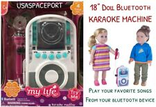 "18"" Doll Bluetooth Music KARAOKE MACHINE Set for My Life as American Girl Boy"