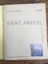Très Beau Cahier Scout  MANUSCRIT De 45 Pages  Journal Avec Photo Dessin Drome