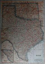 Antique1917 World Atlas Map Texas, Oklahoma & South Dakota World War WW! L@@K!