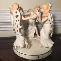 Lenox Like Porcelain Circle Of Angels Candle Holder Great X-Mas gift for sisters