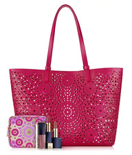 Estee Lauder 6 Pcs.Large TOTE Gift Set Colors Of Spring Cosmetic Bag