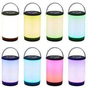 LED Tischlampe Campinglampe Outdoor Tischleuchte Farbwechsel 3600mAh Akku