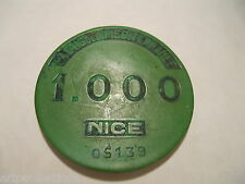 JETON 1.000 CASINO NICE (06) PALAIS MEDITERRANEE