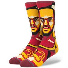 "Stance x NBA ""Mosaic LeBron"" Crew Socks (Burgundy) Men's Cavaliers James #23"