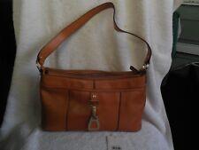NWT ETIENNE AIGNER Camel Brown Leather Medium Satchel Tote Shoulder Purse Bag