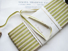 2 yards Vintage French Kiwi Green/Cream Ombre Cotton Picot Ribbon Ribbonwork