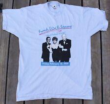 1989 Frank Liza & Sammy Ultimate Event Concert Promo T-Shirt Sinatra Davis Jr XL