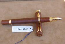 Très Rare stylo plume 18 kts WATERMAN MAN 100 en bois de bruyère NEUF