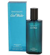 Cool Water by Davidoff Mild Deodorant Spray 2.5 oz / 75 ml. for Men Deo NIB